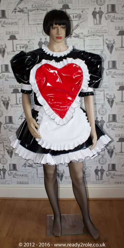 "The ""Sweetheart"" Sissy Dress With Interchangeable Apron Sections 1"