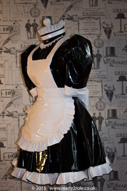 Hi Alice More PVC Maids Dress With Full Apron 1