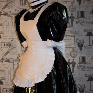 Hi Alice More PVC Maids Dress With Full Apron 1