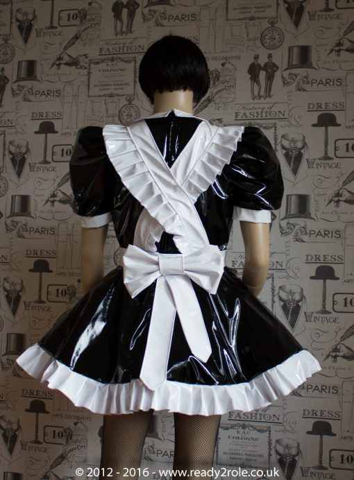 Alice Even More Sissy PVC Maid Dress With Full Apron – Black & White Version – Ask About Colours 3