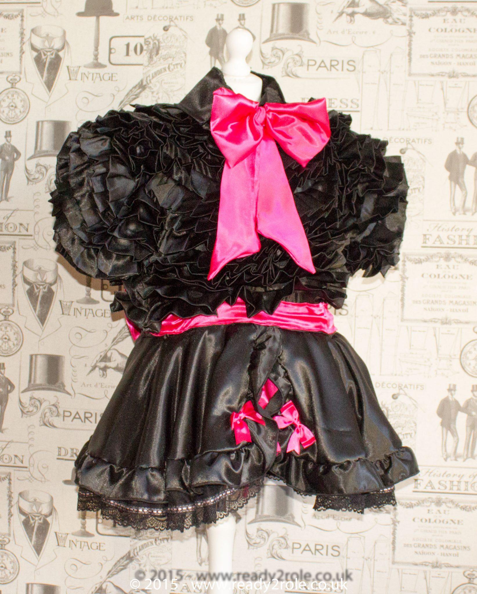 Bow Peek Sissy Ruffle Dress – Black Version