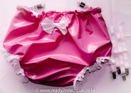 Sissy PVC Panties With Suspender Clips 1