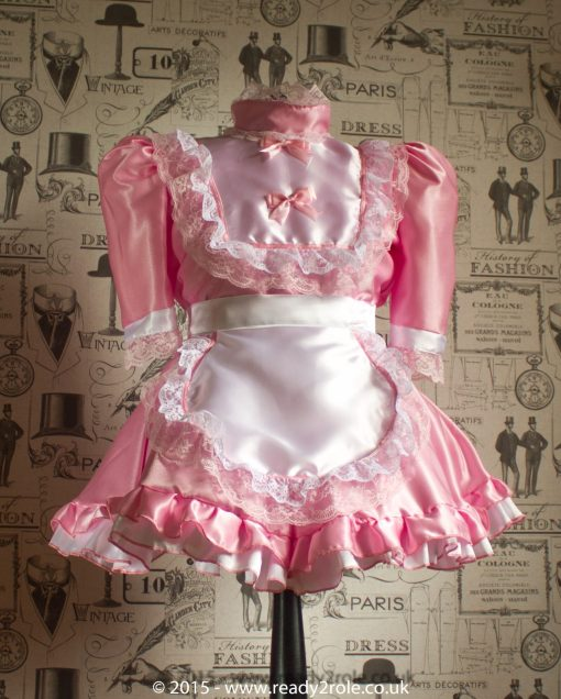 Hi Neck Frilly – Sissy Dress – Ask About Colour Choices 6
