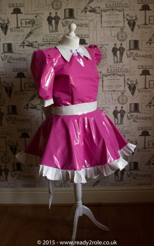 Milly Bow Back – Sissy PVC Dress 1
