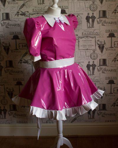 Milly Bow Back – Sissy PVC Dress 1
