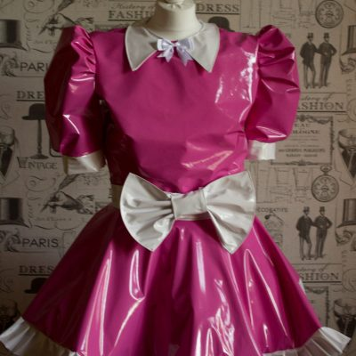Milly Bow Front – Sissy PVC Dress 1