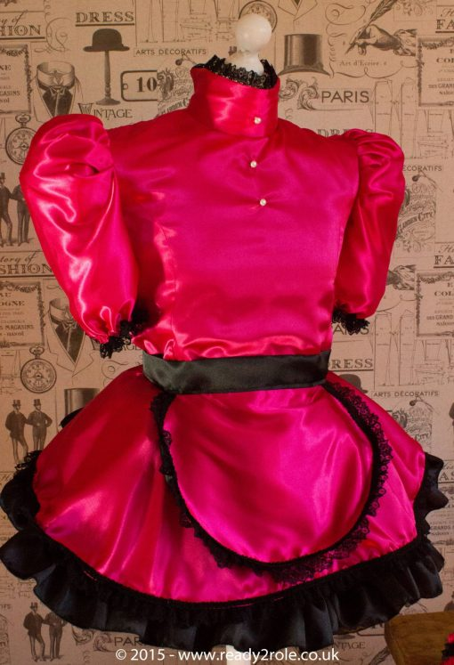 Nawty Shorty in Cerise Satin 1