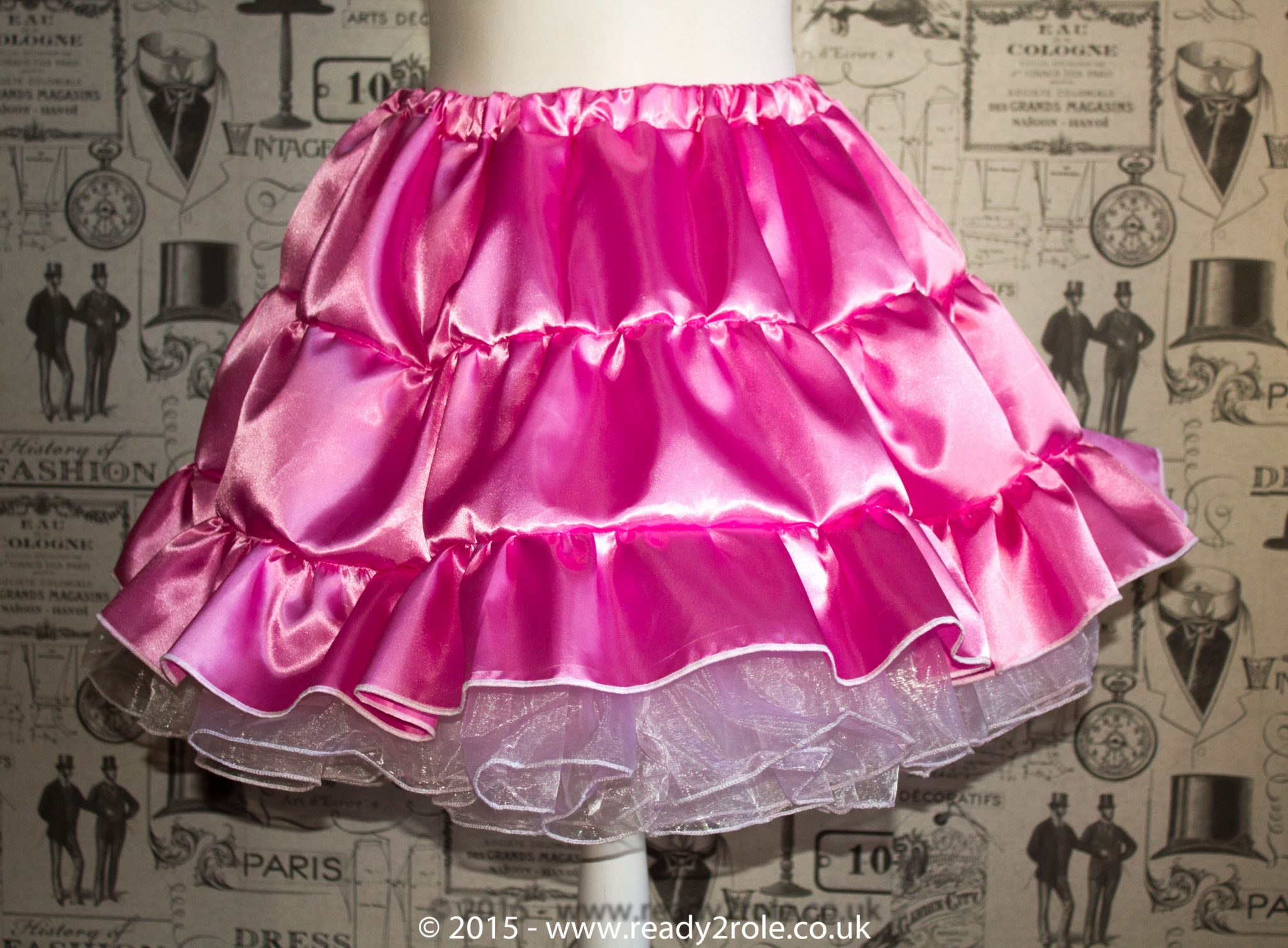 Sissy Frilly Hand Crafted Petticoat (Pink) – Above Knee Length