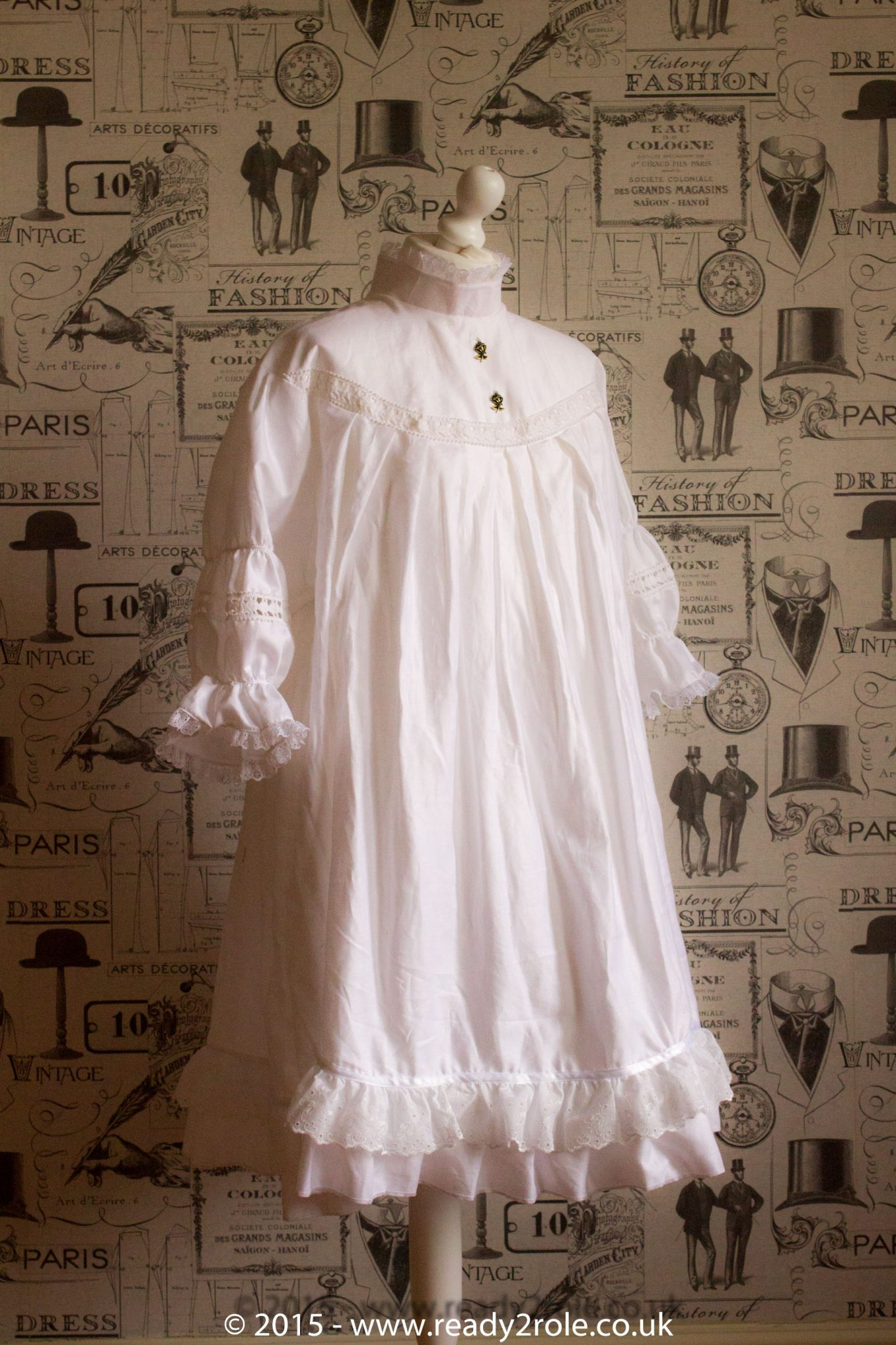 Victorian Smock Dress in Cotton