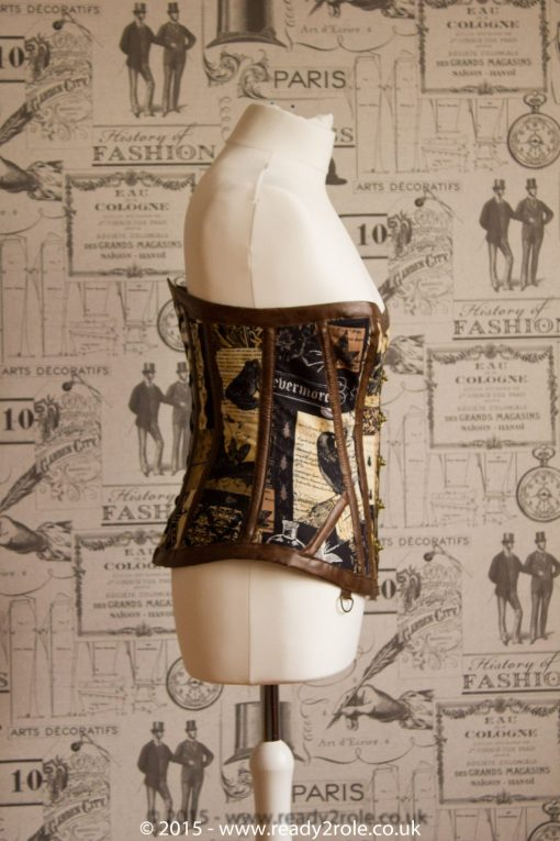 Hand Crafted Steel Boned Steampunk Corset 5