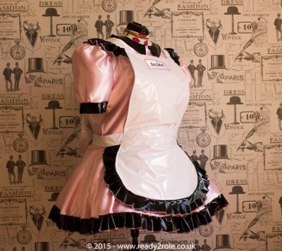 Alice Even More Satin & PVC Maids Dress 1
