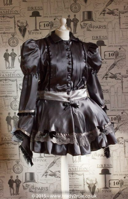 Victoria – Sissy Satin Long Sleeved Dress 2