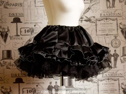 Sissy Frilly Hand Crafted Petticoat (Black) – Above Knee Length 2