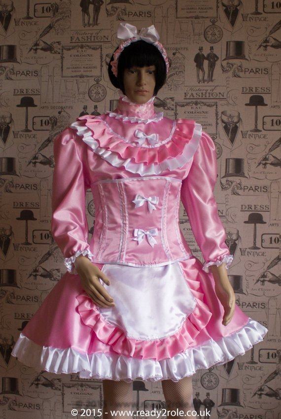 Candy Cupcake Corseted Sissy Satin Dress
