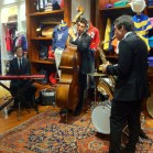 The live jazz band that played throughout the night.