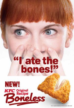 I Ate The Bones : bones, KFC's, Bones