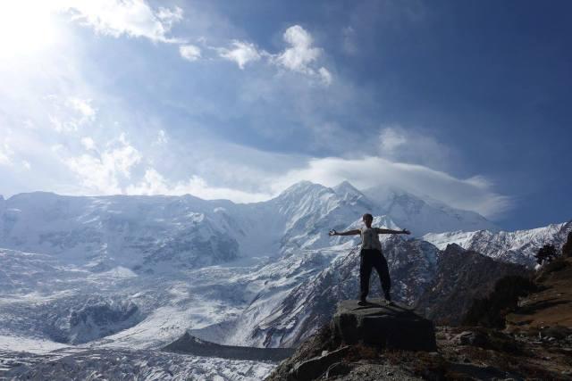 Taking in the fresh air! Trekking in Pakistan is unbelievable