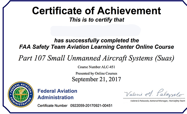 RFT 120: Getting Your UAS Certificate