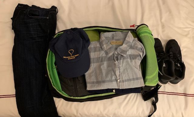 digital nomad packed bag