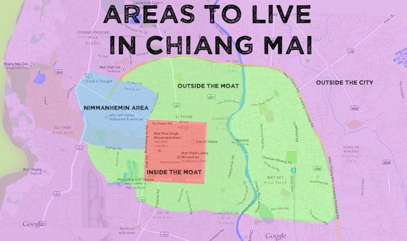 areas to live in chiang mai