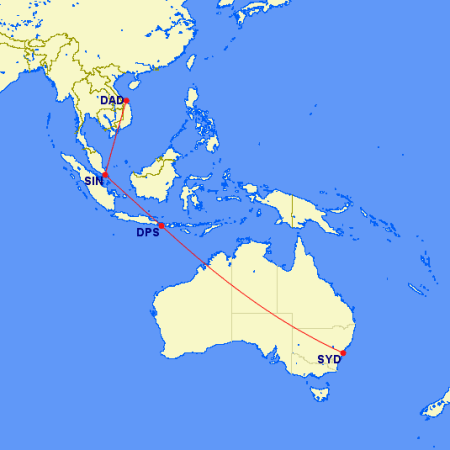 map da nang to sydney