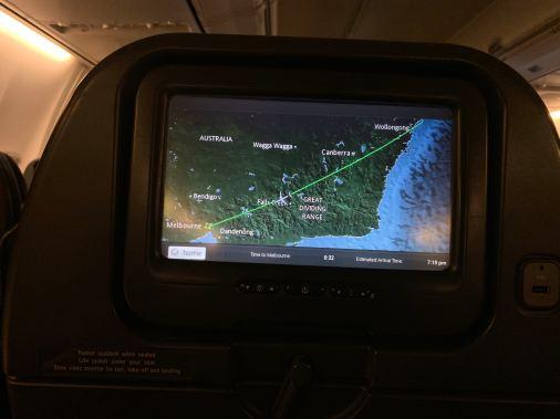 Qantas Sydney to Melbourne
