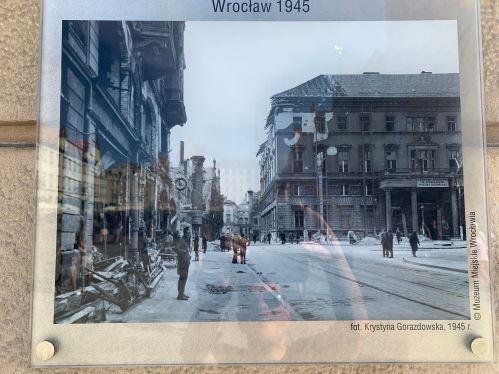 Wroclaw Market Square 1945