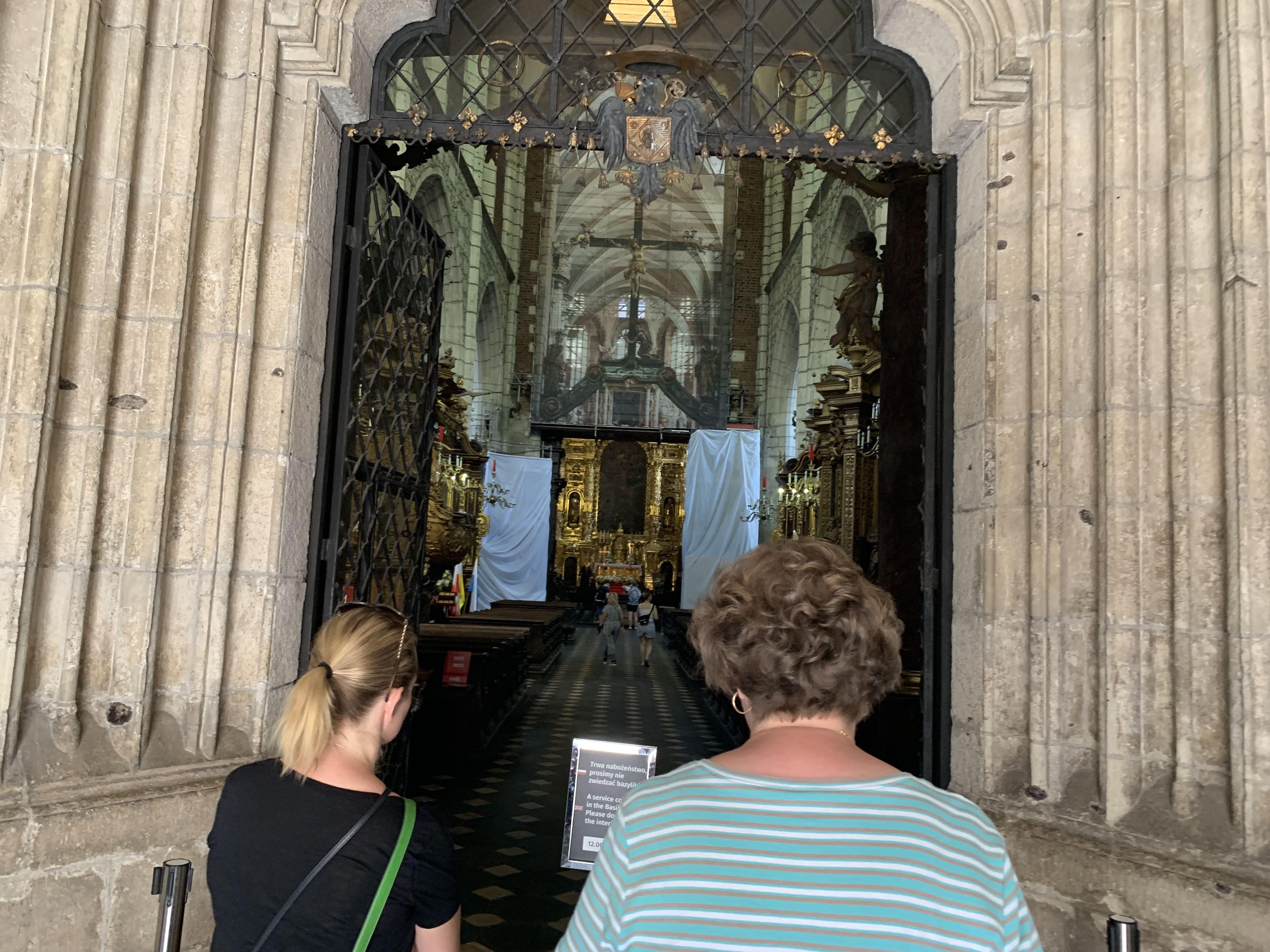 Inside Corpus Christi Basilica Krakow