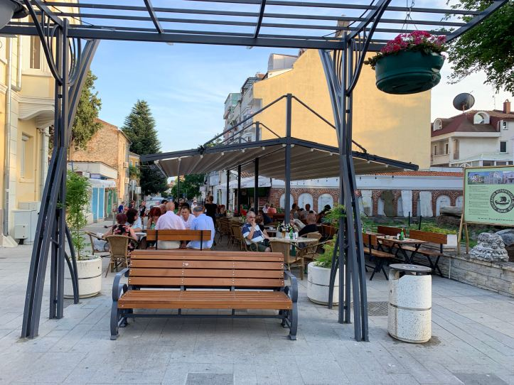 Aleko Bogoridi Blvd Burgas Bulgaria Pedestrian zone