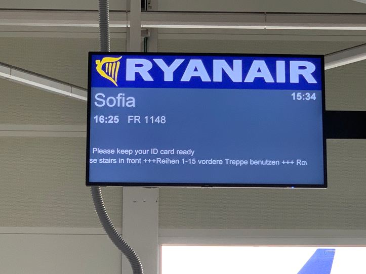 Ryanair Flexi Plus Berlin to Sofia