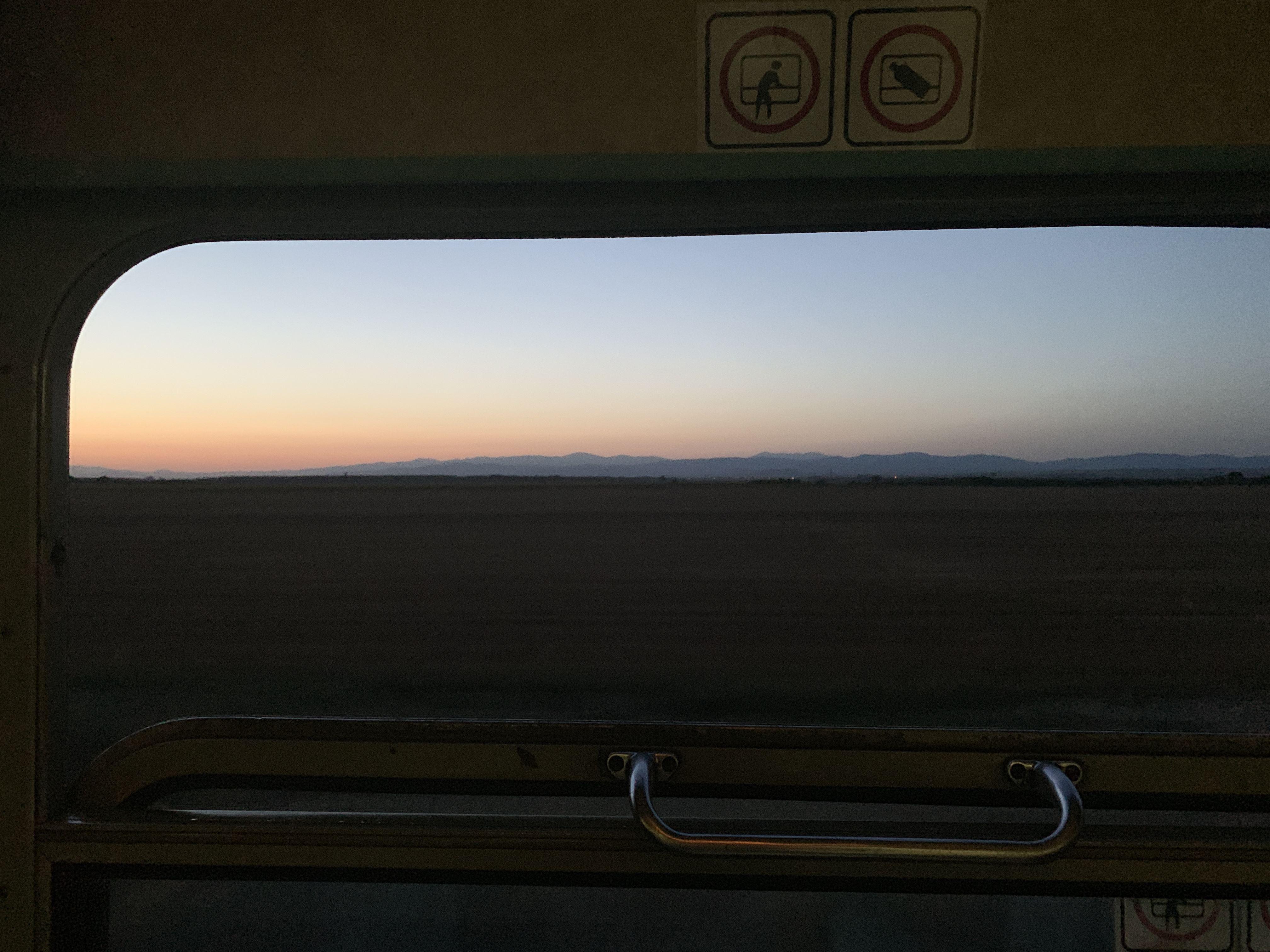 Bulgarian Train Sunset