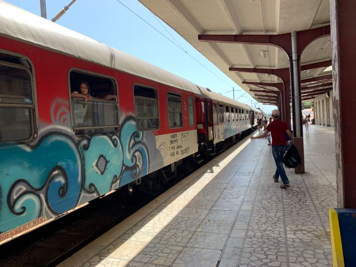 Train Between Varna and Plovdiv Bulgaria