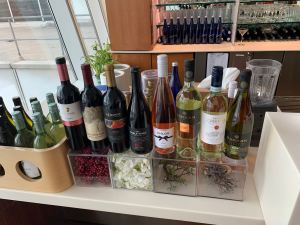 Lufthansa Senator Lounge JFK Terminal 1 Wine Selections