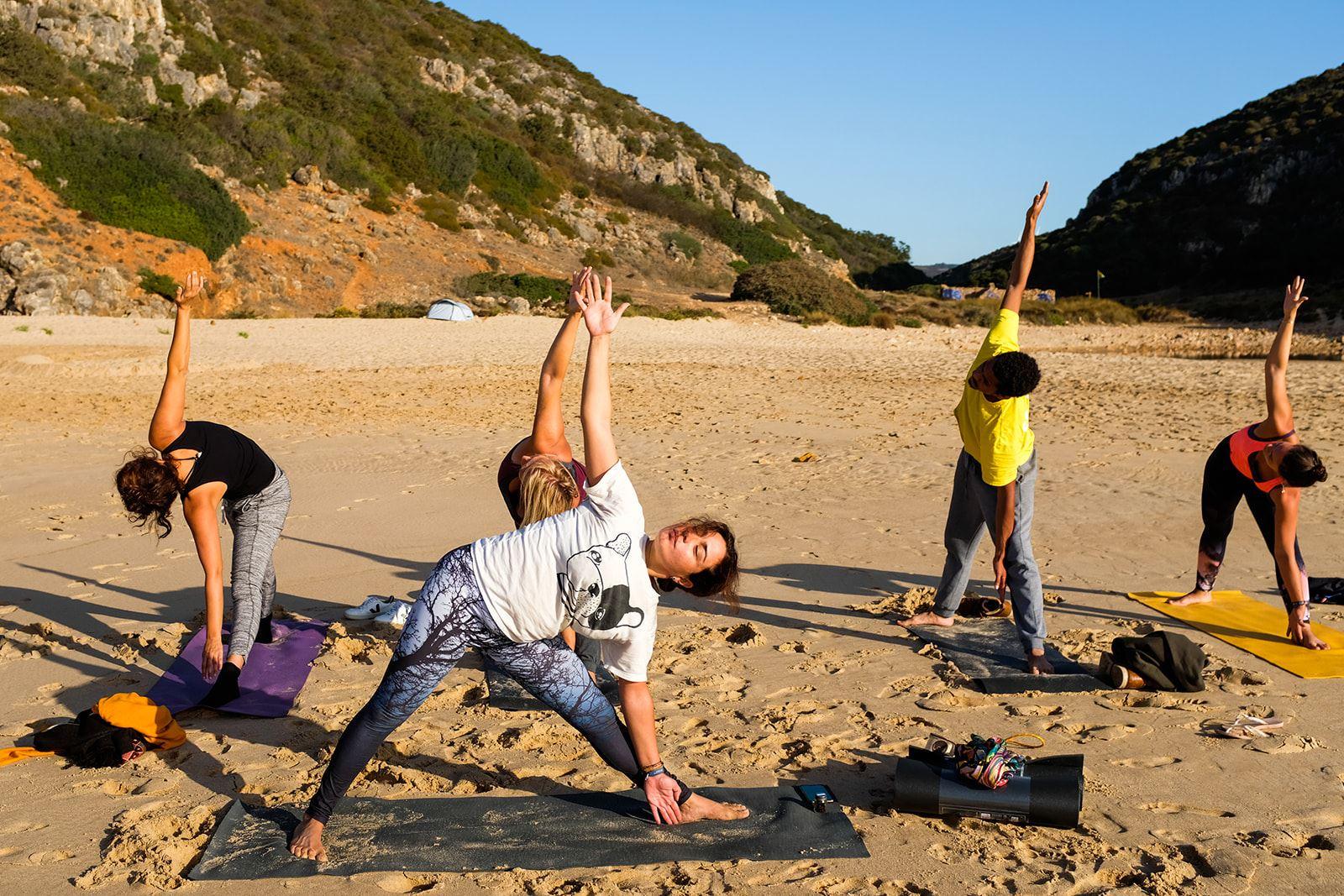 Campervan caravan portugal yoga vanlife