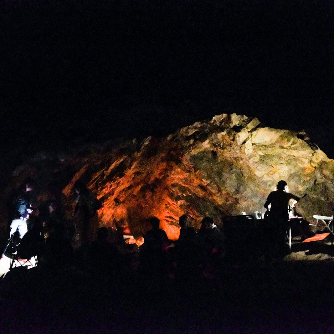 BBQ in a cave at Praia das Furnas Portugal