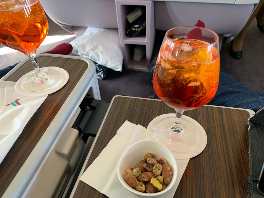 Air Italy Business Class Aperitif Aperol Spritz