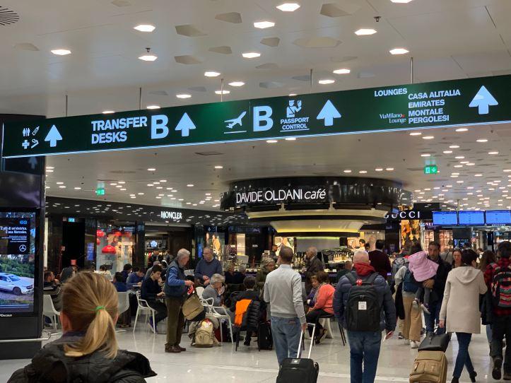 Priority Pass Lounge Malpensa Airport Terminal 1 Sala Montale Directions
