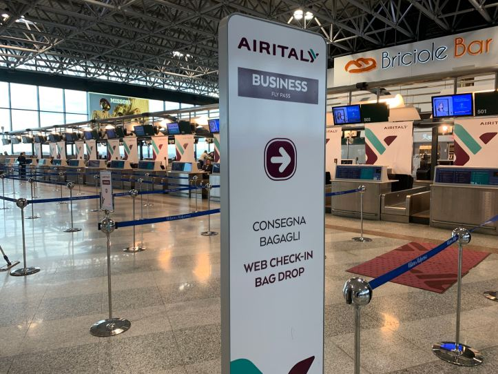 Milan Malpensa Airport Terminal 1 Air Italy Check In