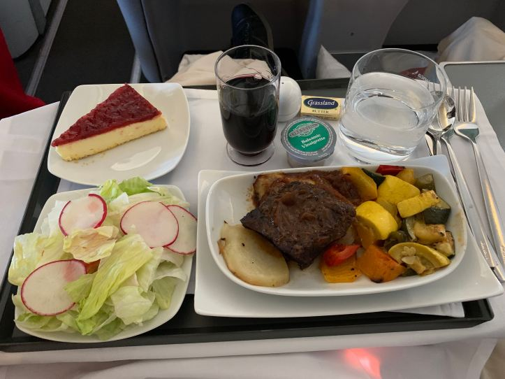 Avianca A330 Business Class Meal IAD-BOG