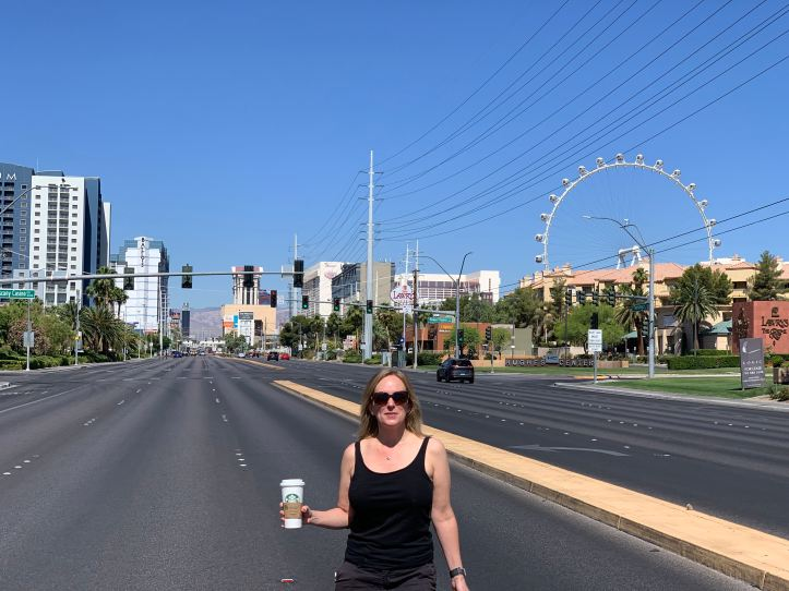 Empty streets in Las Vegas during COVID-19