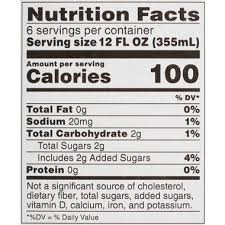 White Claw Nutrition Facts