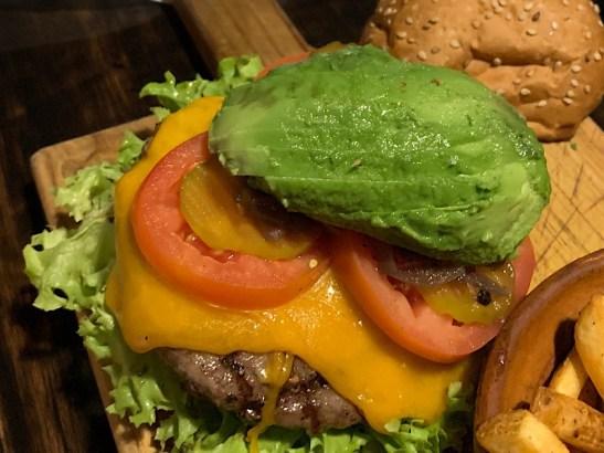 Mexican keto food burger with avocado