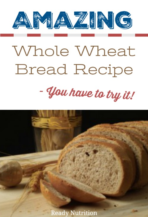 After stumbling upon a gold mine of a bread recipe, I wanted to share the recipe with all of you. It's mellow and sweet and is the best-tasting wheat bread recipe I have found. #ReadyNutrition