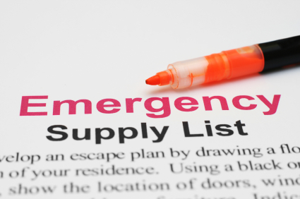 Short Term Emergency Checklist