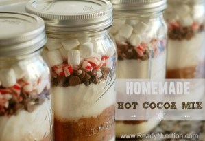 This creamy hot cocoa mix will warm you up on those cold, blustery days. #ReadyNutrition