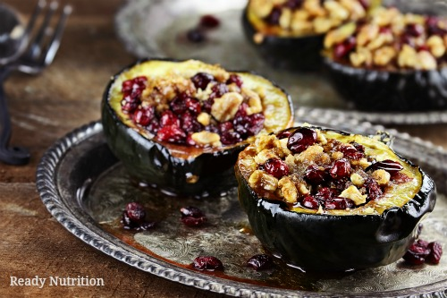 Roasted Squash with Sage and Cranberries