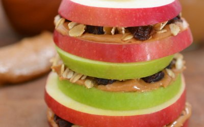 Peanut Butter & Apple Sandwiches with Granola