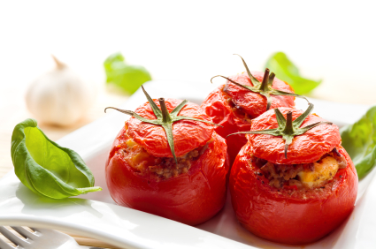 Couscous Stuffed Tomatoes