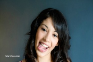 Woman-Funny-Face-Tongue-Smile-Happy