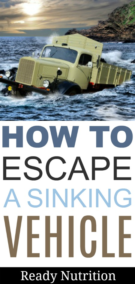No one wants this to happen, but when your life is on the line - know how to escape a sinking vehicle.
